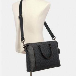 Coach Signature Laptop Bag Designer Breefcase NWT